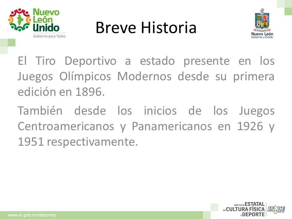 Breve Historia El Tiro Deportivo a estado presente en los Juegos Olímpicos Modernos desde su primera edición en 1896.