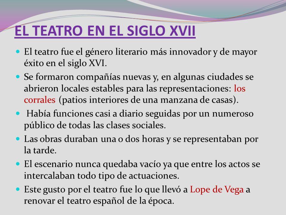 EL TEATRO EN EL SIGLO XVII