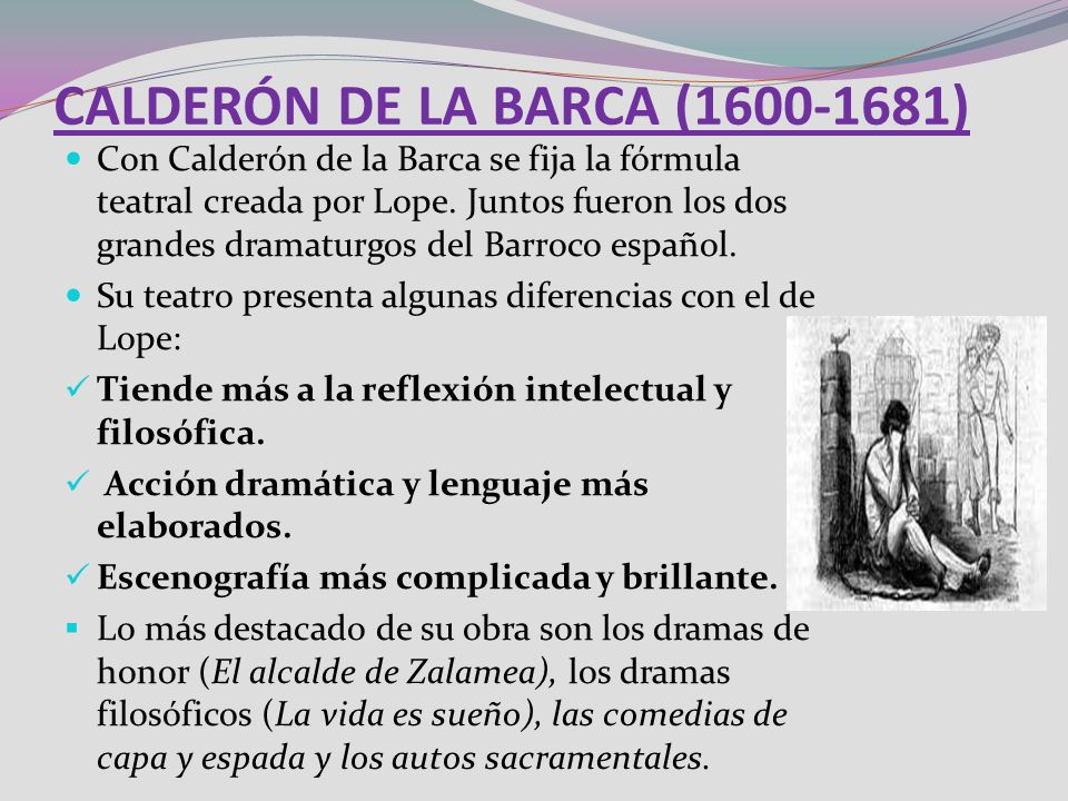 CALDERÓN DE LA BARCA (1600-1681)