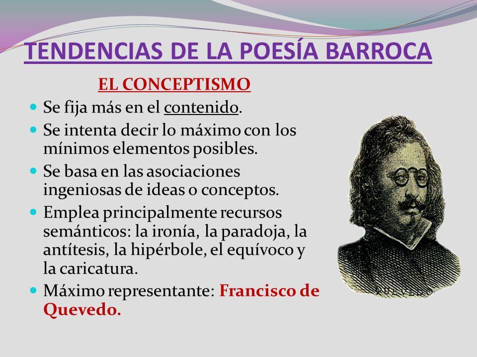 TENDENCIAS DE LA POESÍA BARROCA