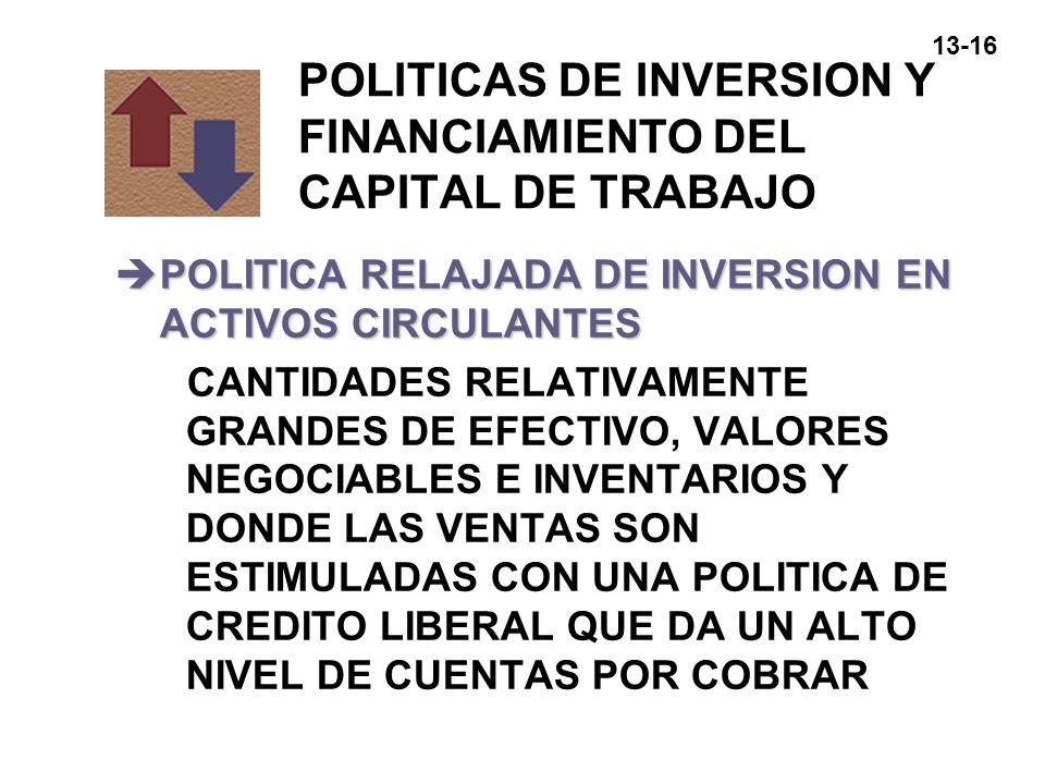 POLITICAS DE INVERSION Y FINANCIAMIENTO DEL CAPITAL DE TRABAJO