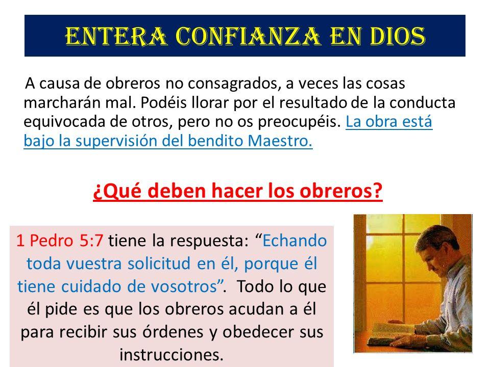 Entera confianza en Dios