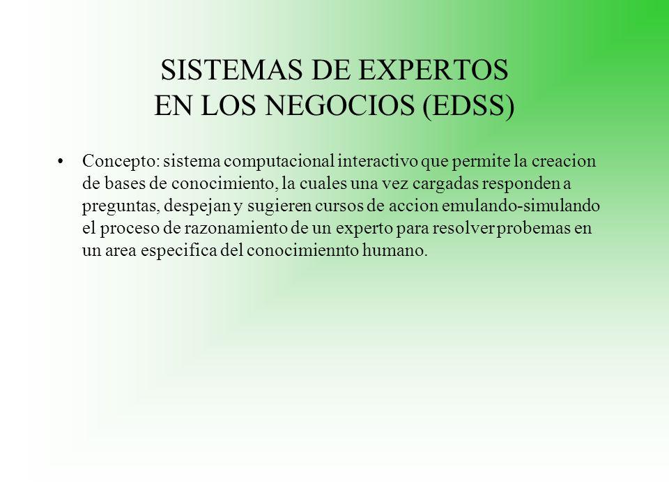 SISTEMAS DE EXPERTOS EN LOS NEGOCIOS (EDSS)