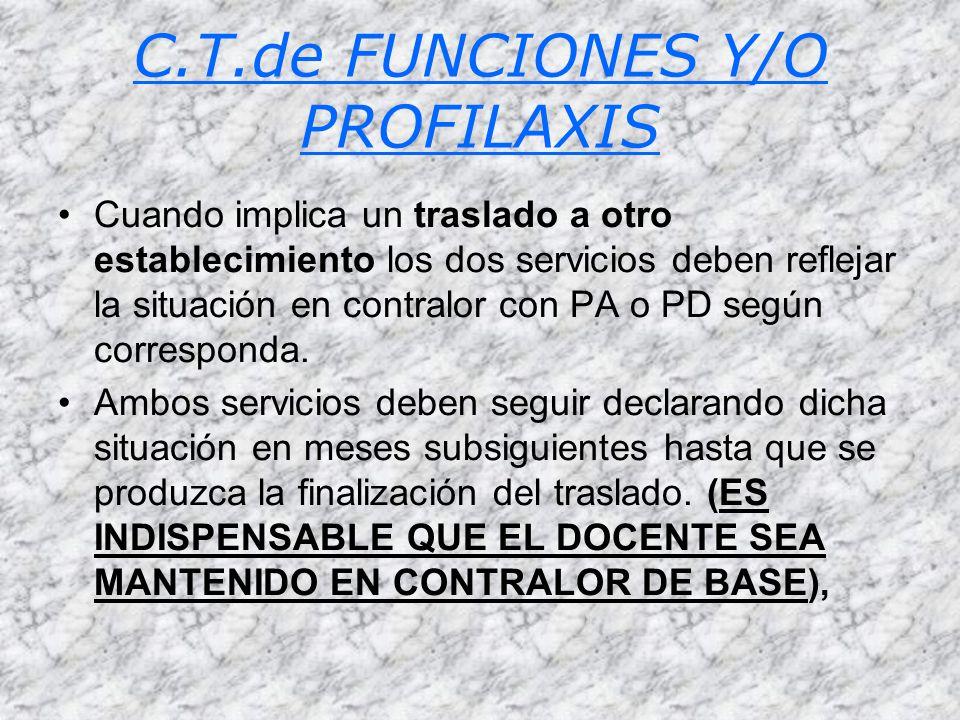 C.T.de FUNCIONES Y/O PROFILAXIS