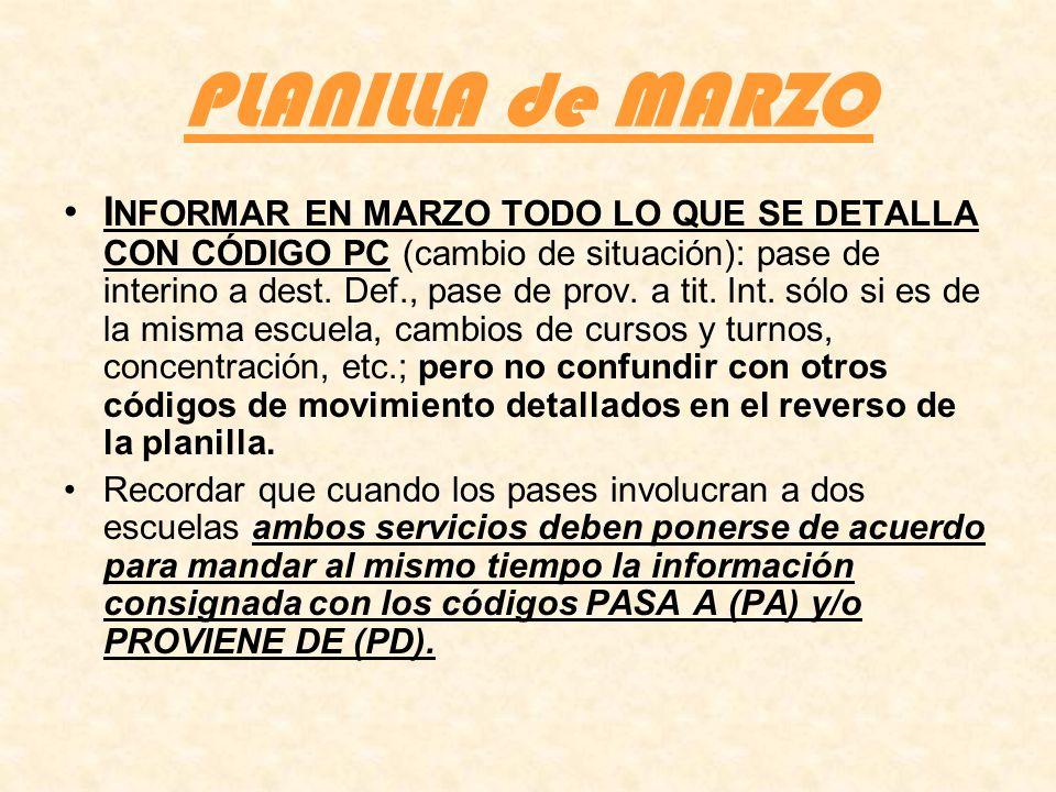 PLANILLA de MARZO