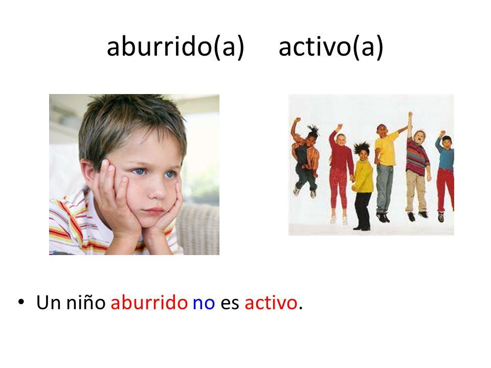 aburrido(a) activo(a)