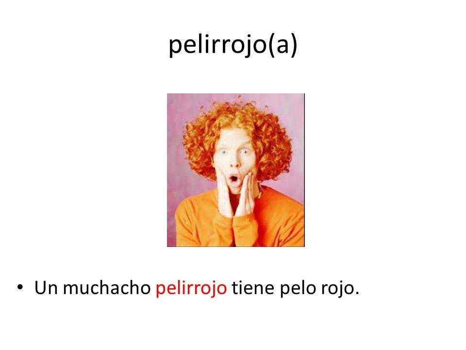 pelirrojo(a) Un muchacho pelirrojo tiene pelo rojo.