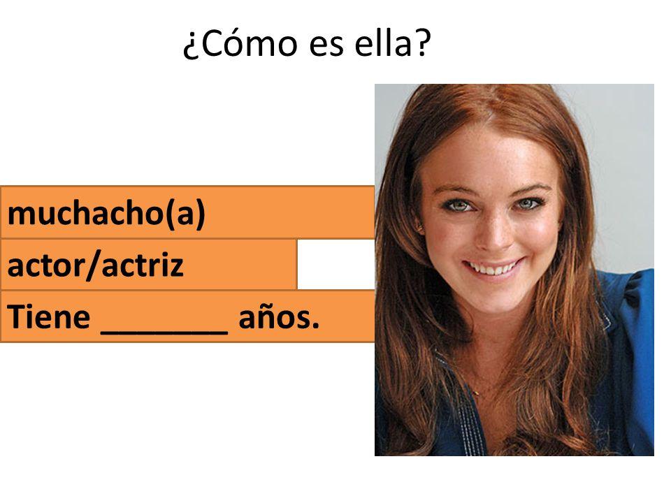 ¿Cómo es ella muchacho(a) actor/actriz Tiene _______ años.