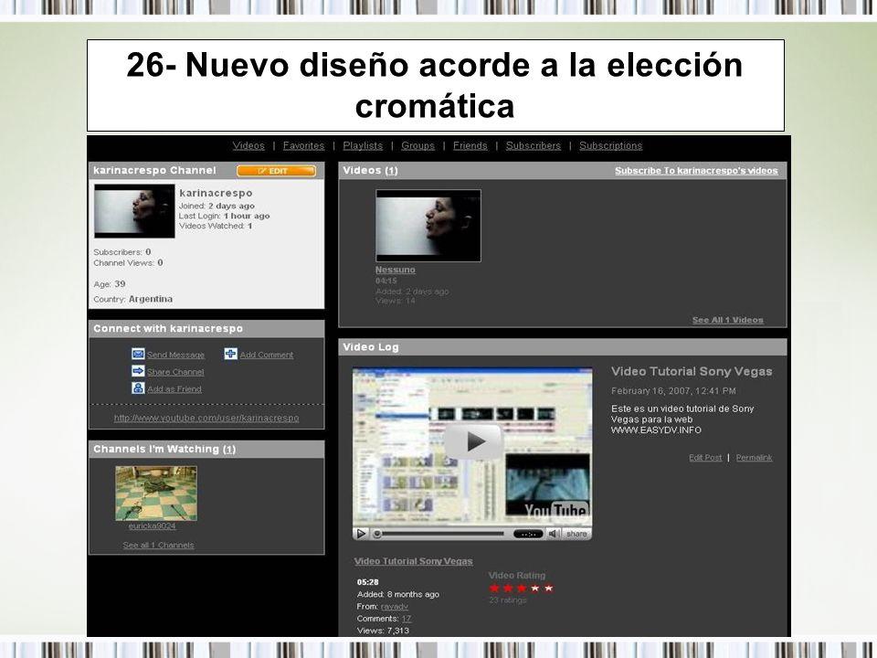 26- Nuevo diseño acorde a la elección cromática