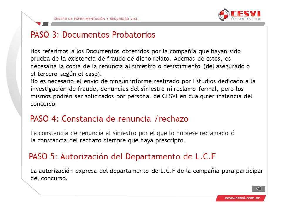 PASO 3: Documentos Probatorios