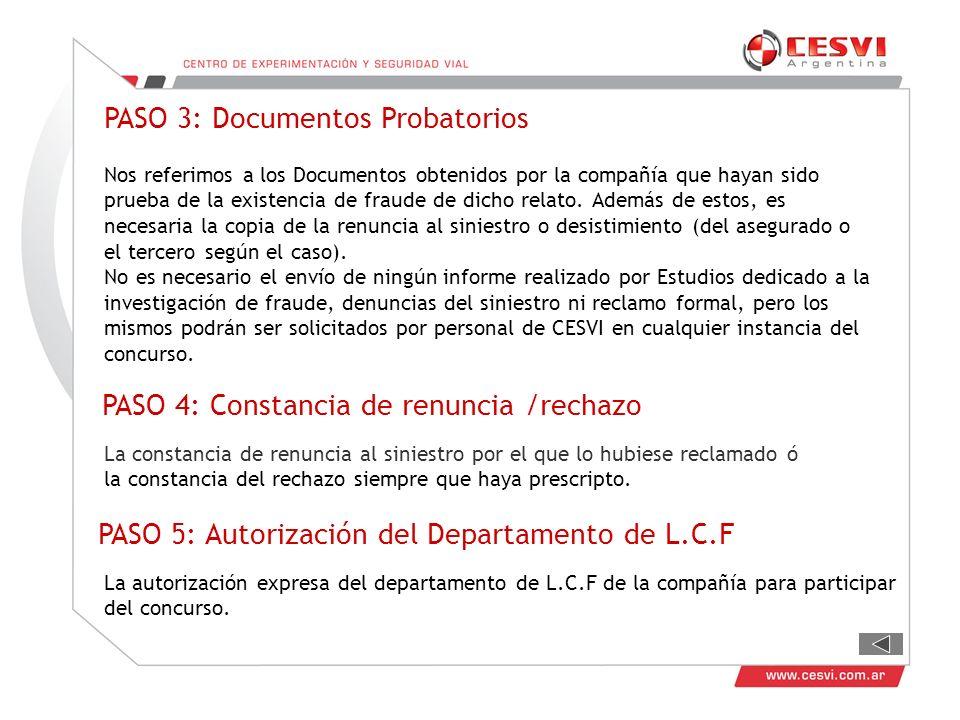 PASO 3: Documentos Probatorios