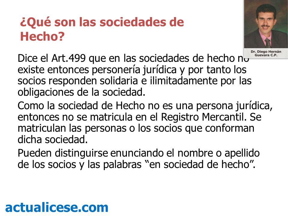 actualicese.com ¿Qué son las sociedades de Hecho