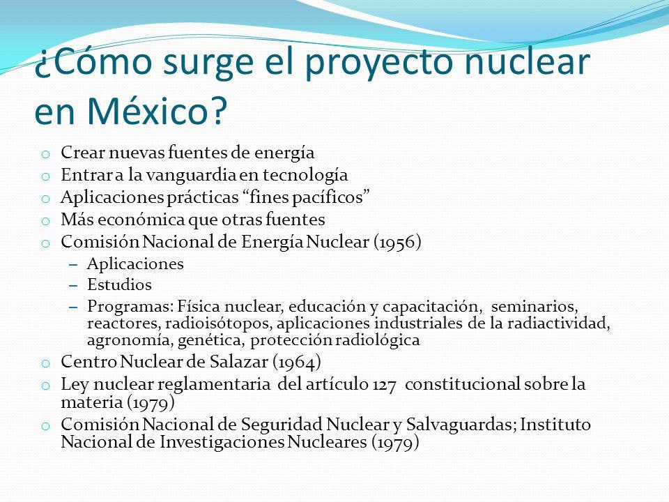 ¿Cómo surge el proyecto nuclear en México