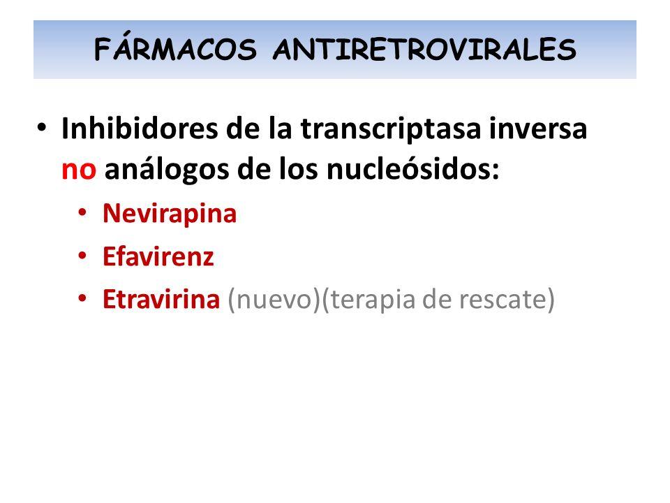 FÁRMACOS ANTIRETROVIRALES