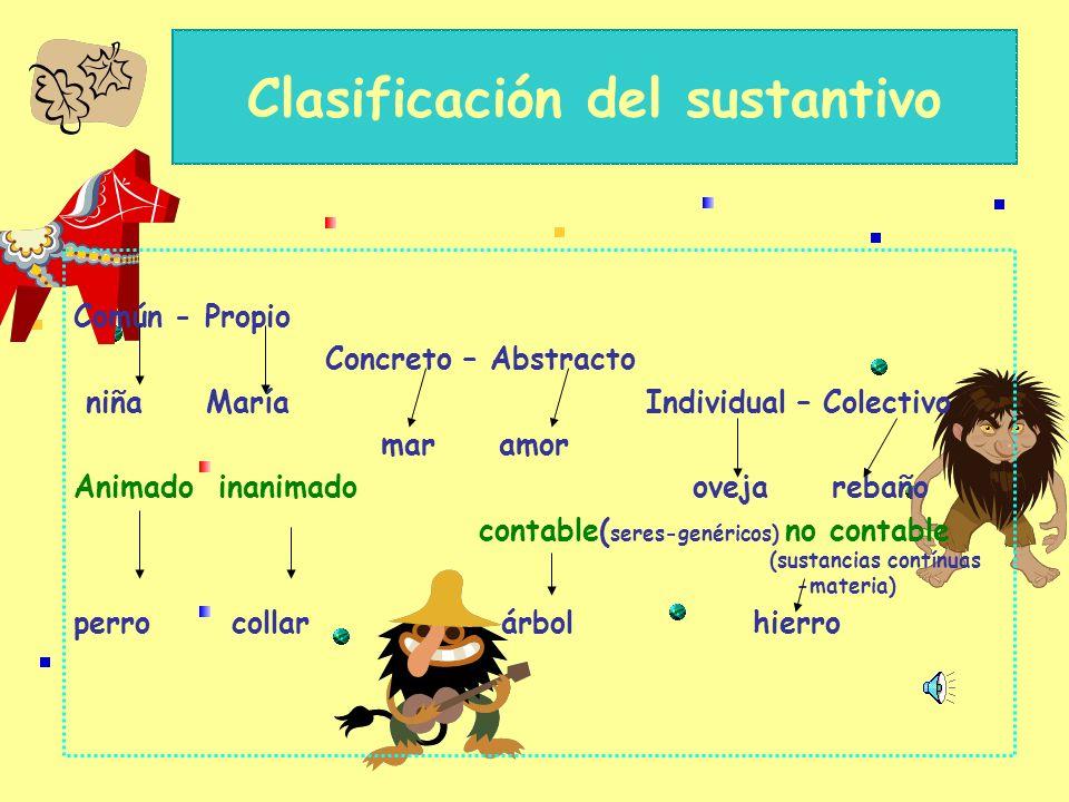 Clasificación del sustantivo