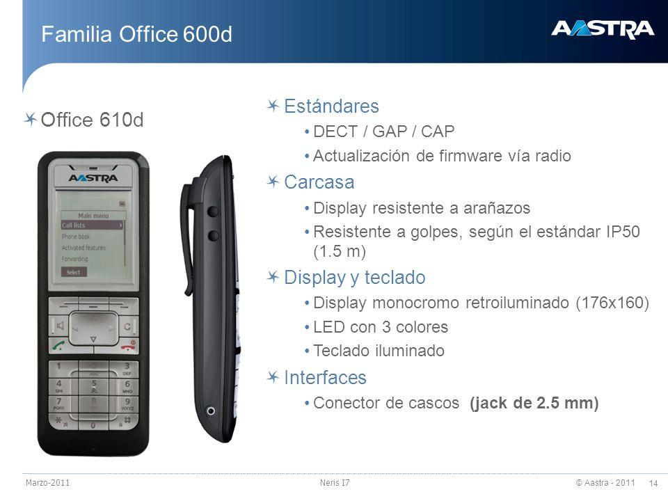 Familia Office 600d Office 610d Estándares Carcasa Display y teclado