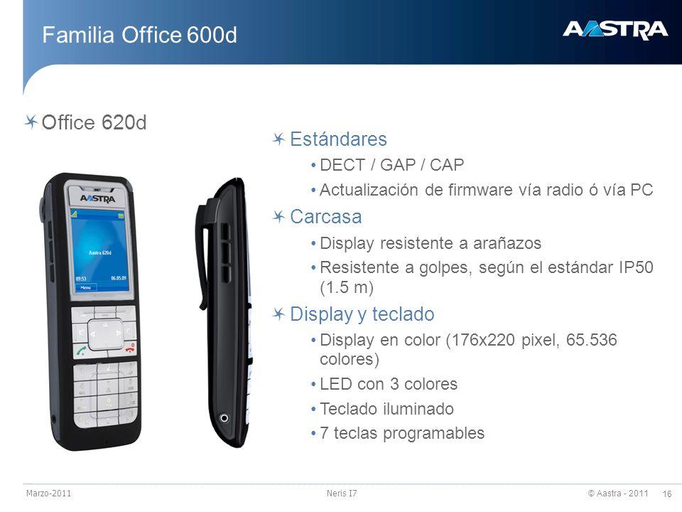 Familia Office 600d Office 620d Estándares Carcasa Display y teclado