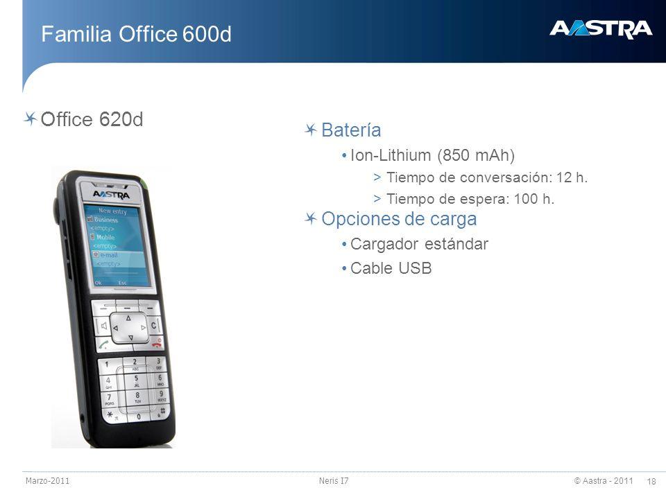 Familia Office 600d Office 620d Batería Opciones de carga