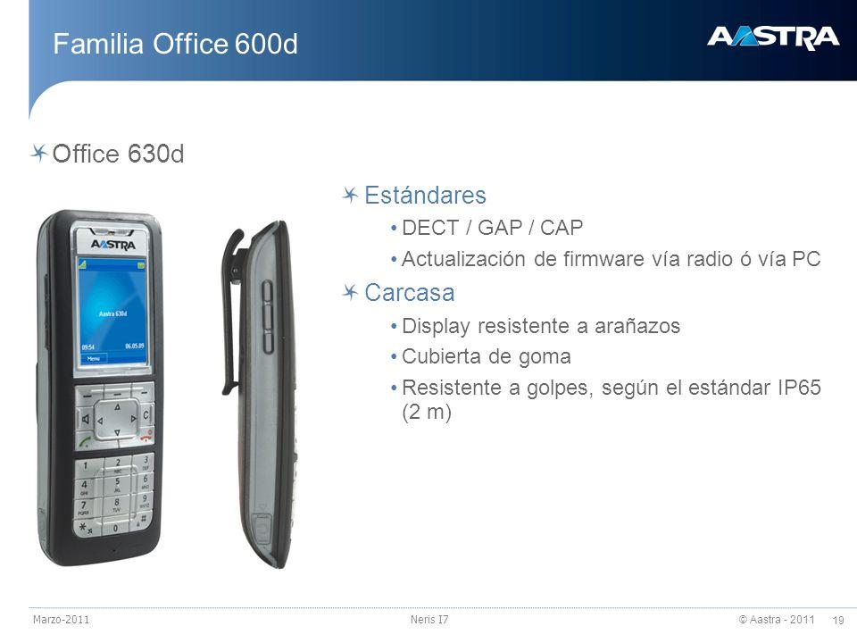 Familia Office 600d Office 630d Estándares Carcasa DECT / GAP / CAP