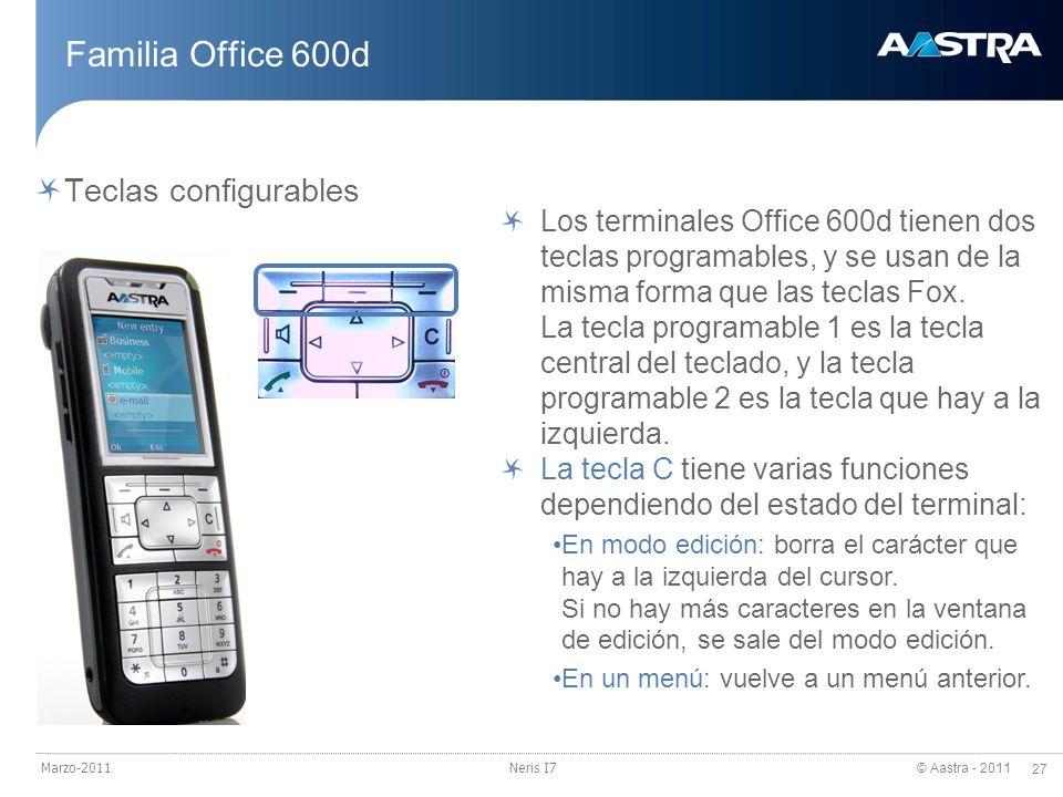 Familia Office 600d Teclas configurables