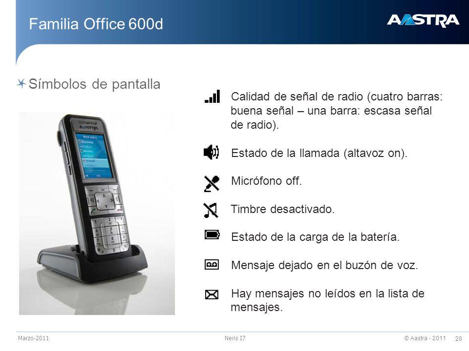 Familia Office 600d Símbolos de pantalla