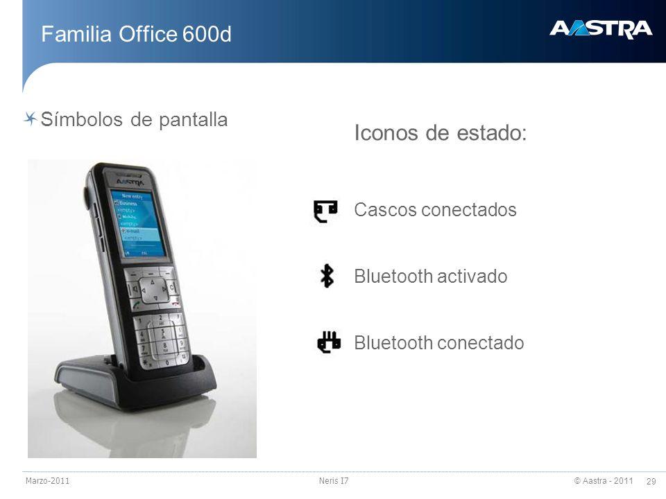 Familia Office 600d Iconos de estado: Símbolos de pantalla