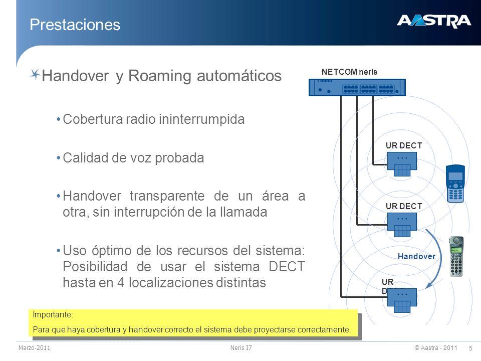 Handover y Roaming automáticos