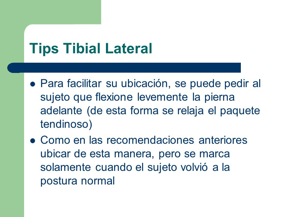 Tips Tibial Lateral