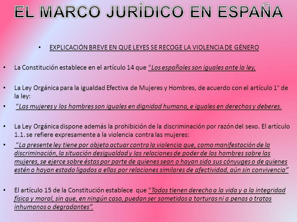 EL MARCO JURÍDICO EN ESPAÑA