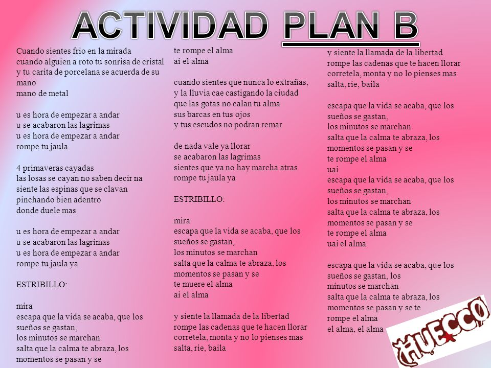 ACTIVIDAD PLAN B