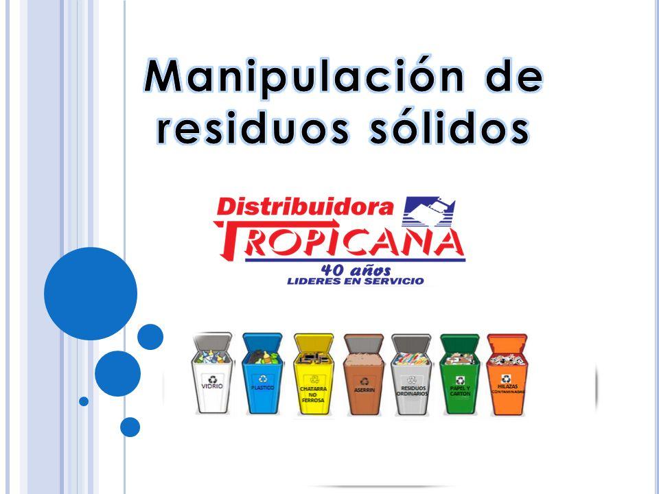 Manipulación de residuos sólidos