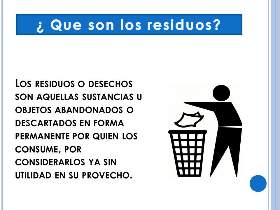 ¿ Que son los residuos