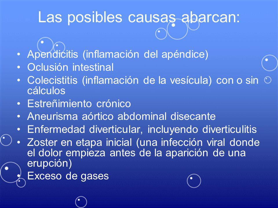 Las posibles causas abarcan:
