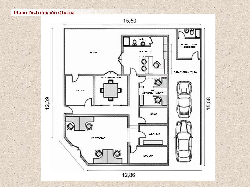 Casa oficina propiedad ppt descargar for Plano de pieza cocina y bano
