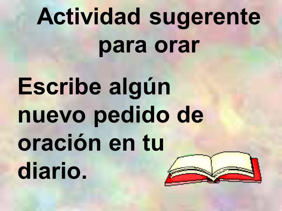 Actividad sugerente para orar