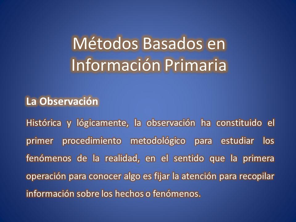 Métodos Basados en Información Primaria