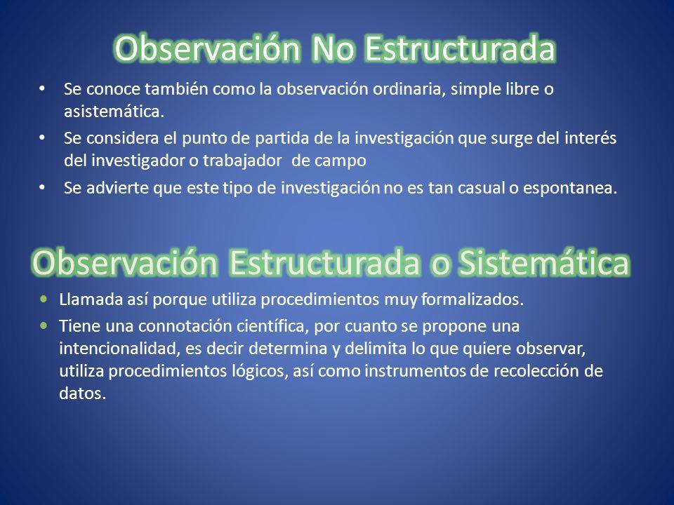 Observación No Estructurada