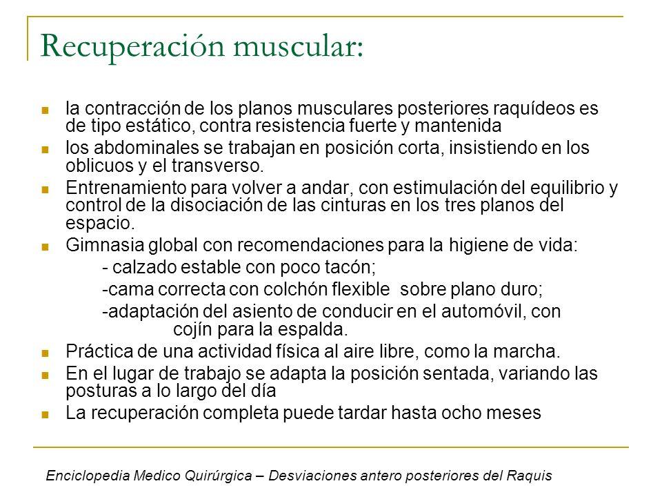 Recuperación muscular: