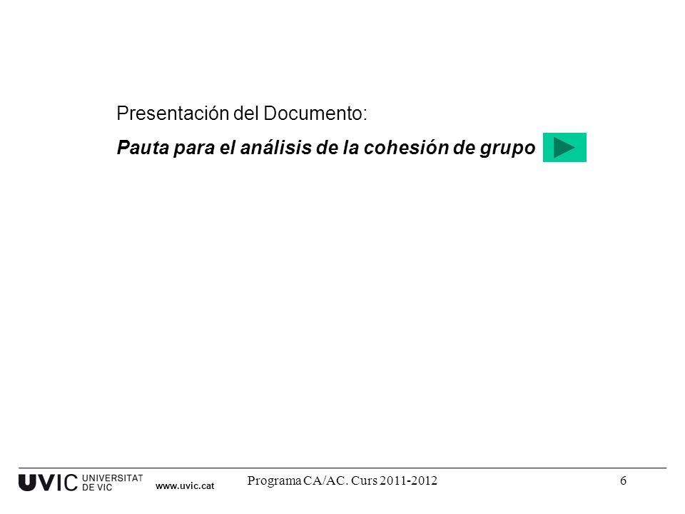 Presentación del Documento: