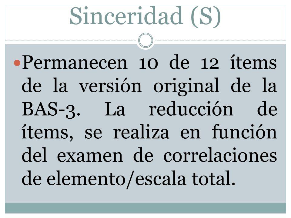 Sinceridad (S)