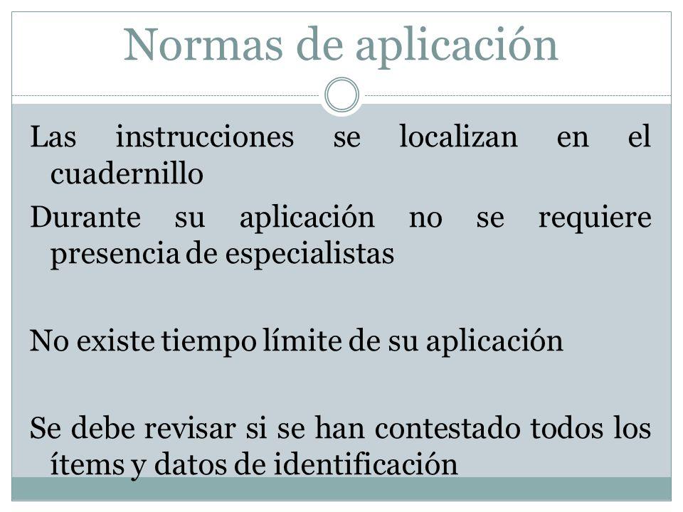Normas de aplicación