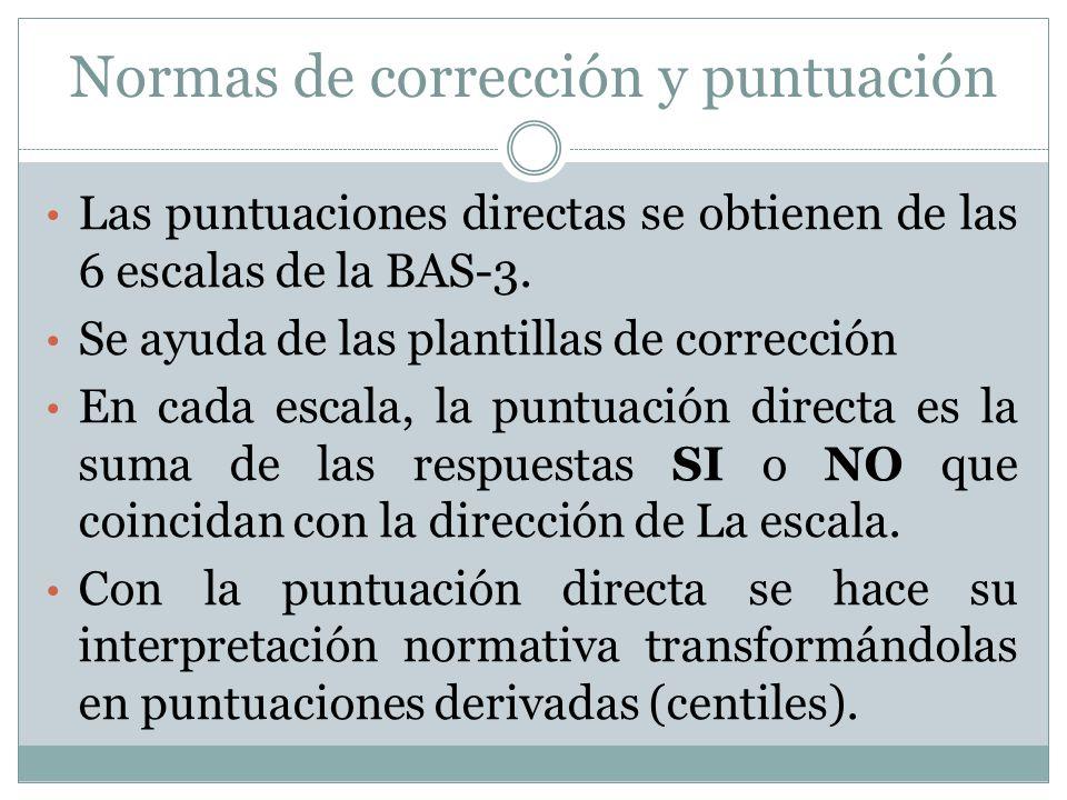Normas de corrección y puntuación