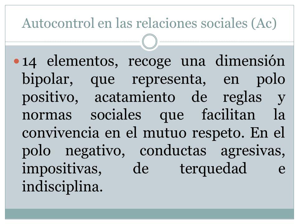 Autocontrol en las relaciones sociales (Ac)