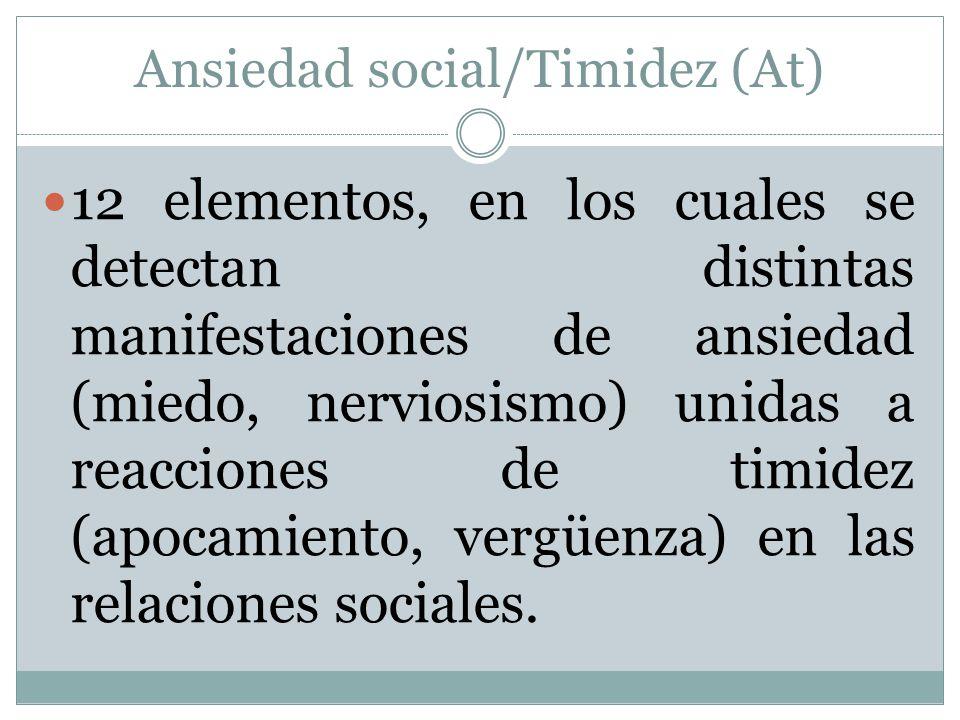 Ansiedad social/Timidez (At)