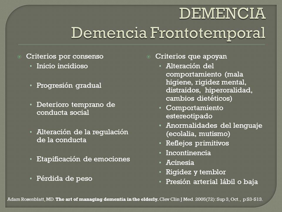 DEMENCIA Demencia Frontotemporal
