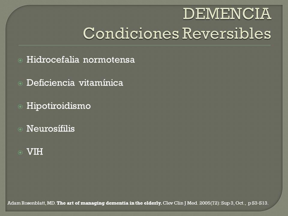 DEMENCIA Condiciones Reversibles