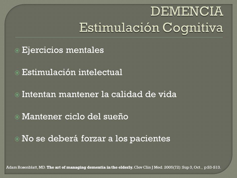 DEMENCIA Estimulación Cognitiva