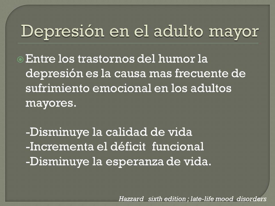 Depresión en el adulto mayor