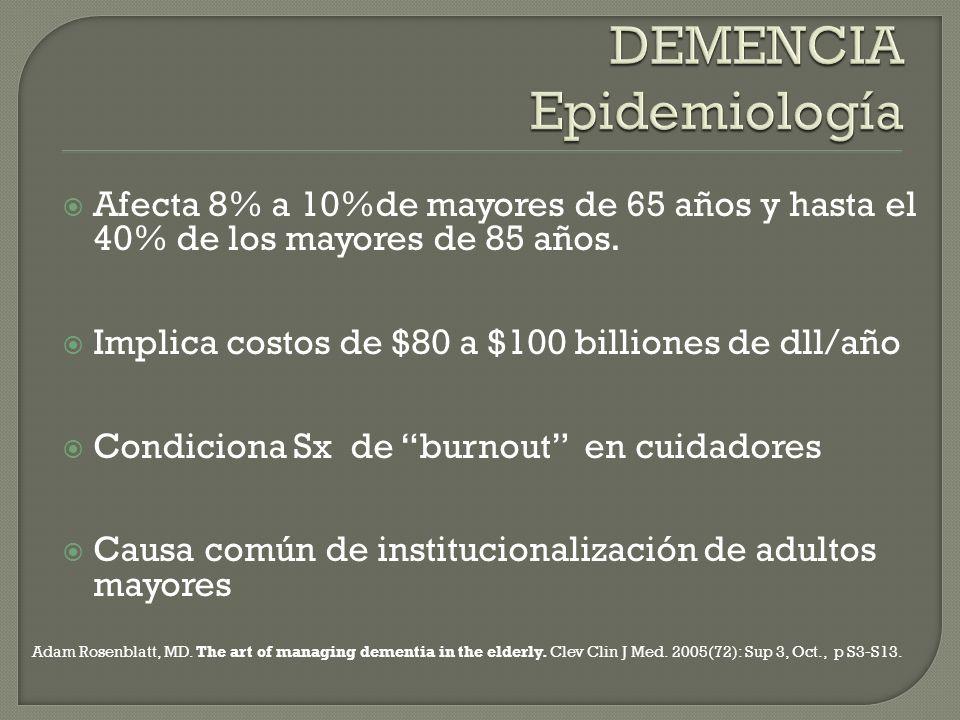 DEMENCIA Epidemiología