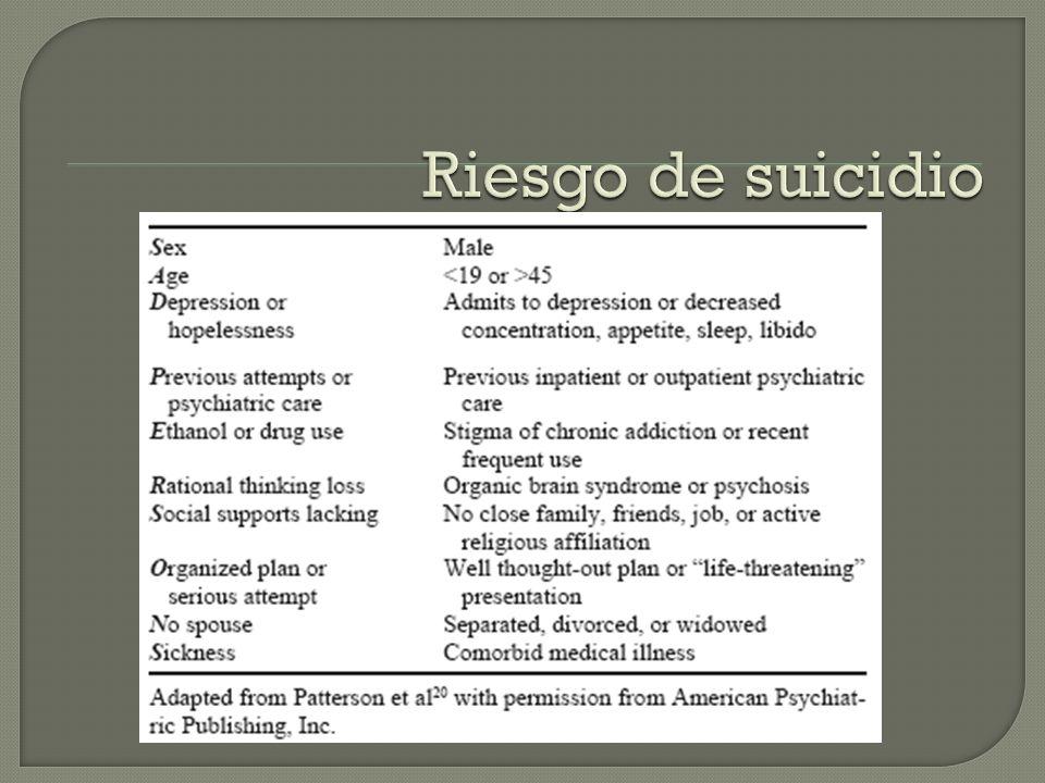 Riesgo de suicidio